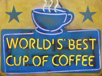 World's best cup of coffee