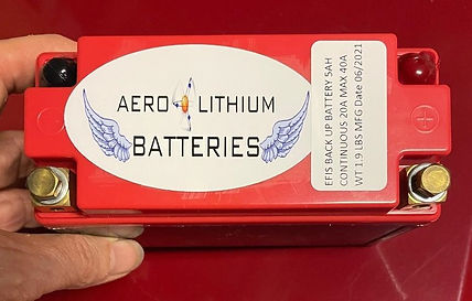 EFIS 5ah battery, backup battery