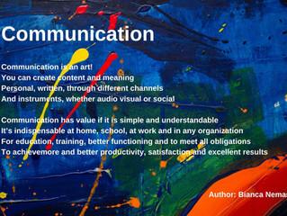 Communication is an Art!