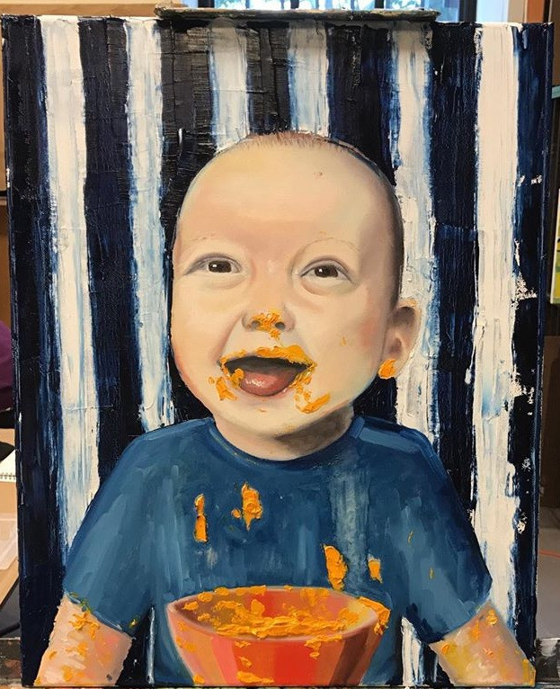 Foodie baby Theo