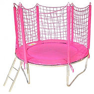 cama elástica rosa