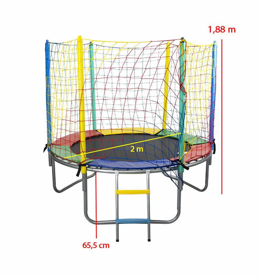 cama elastica de 2 metros medidas colori