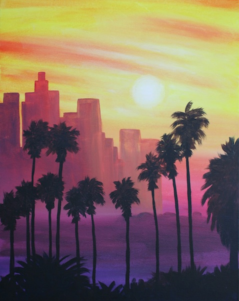 LA Sunset Skyline