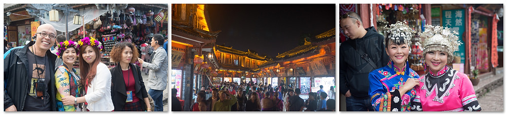 Tourists and nightlife in Lijiang