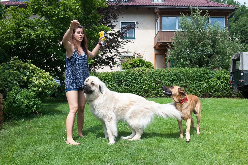 Mutlu with friend Ami (and Berna ;-)