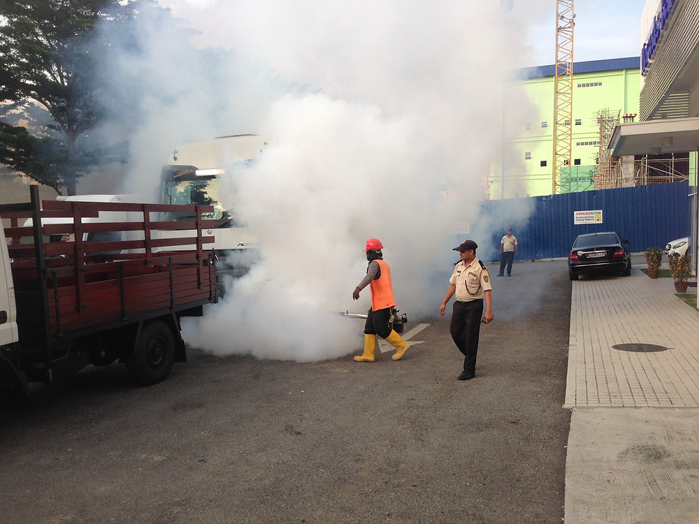 Fighting Dengue - Mercedes workshop in K.L.