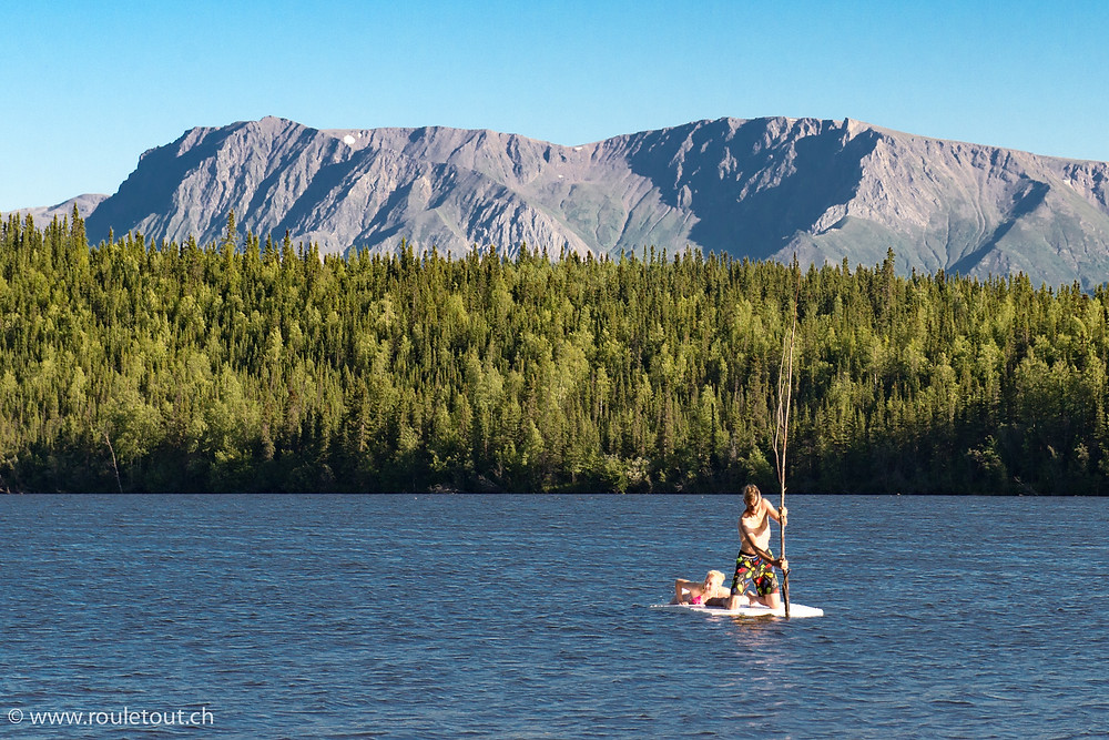 Exploring a lake in Alaska