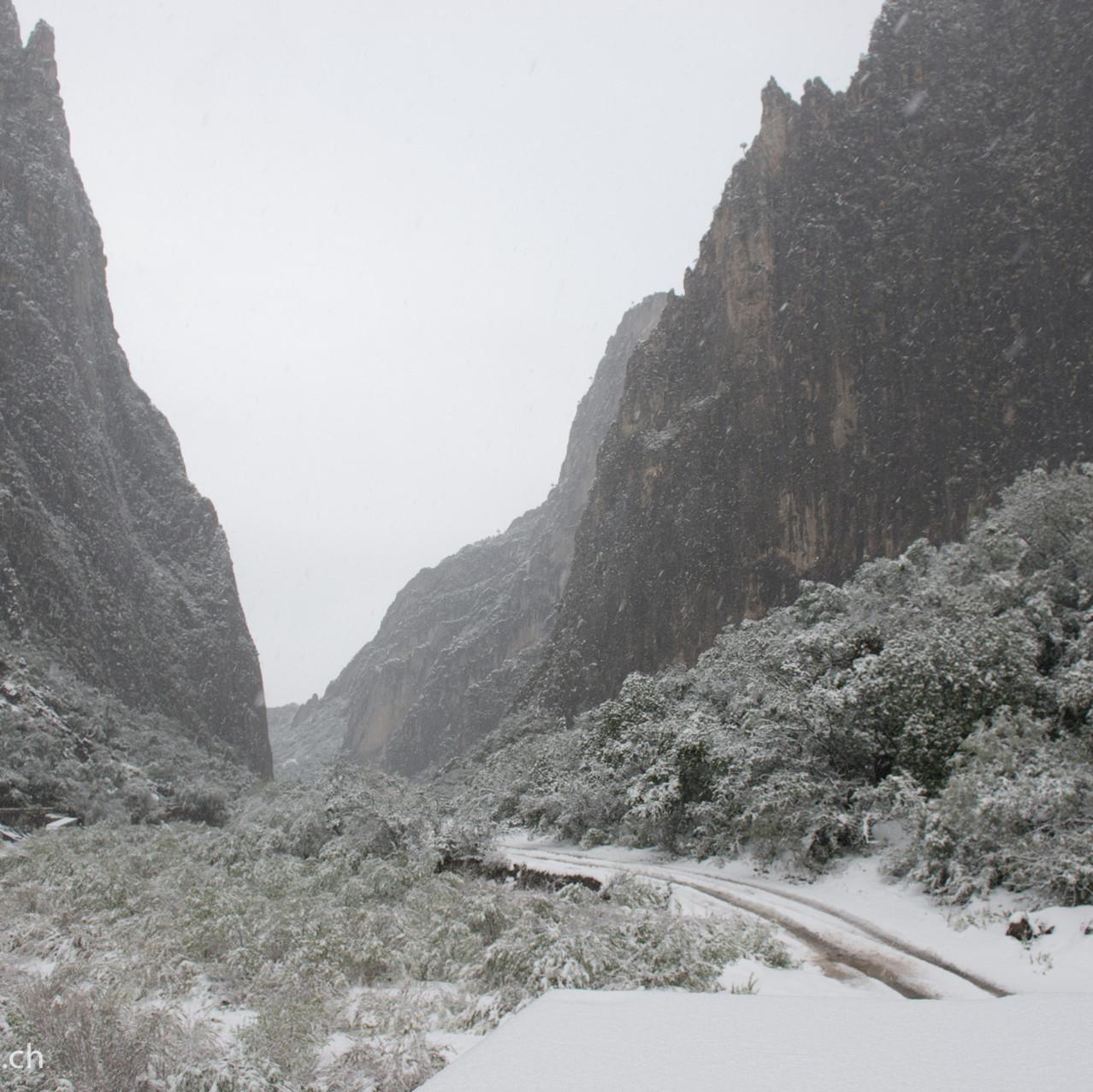 Snow in Potrero Chico