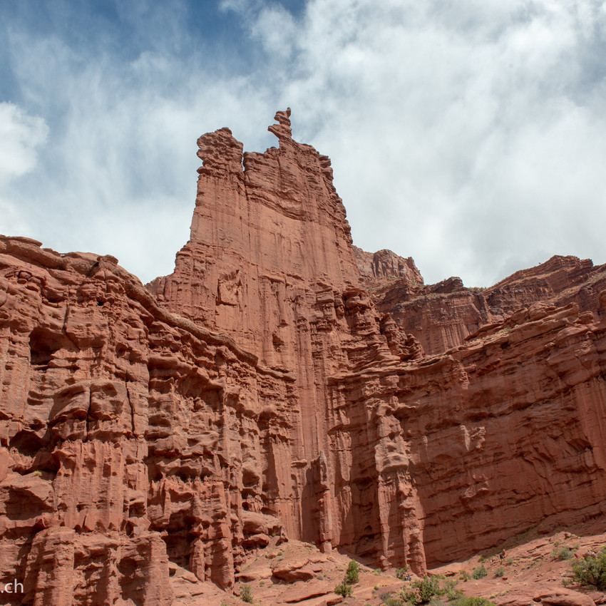 Fisher Towers with Ancient Art