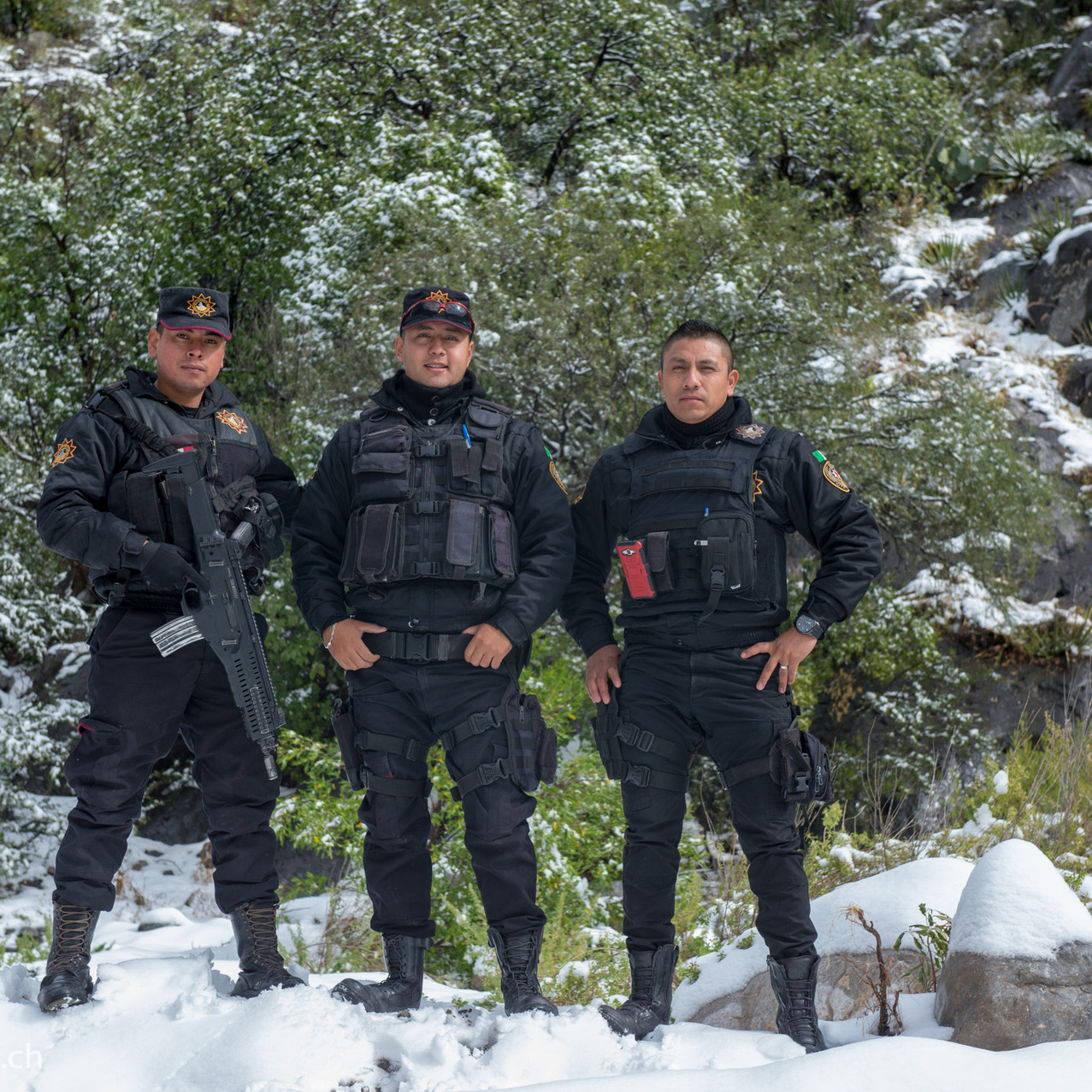Federales in the snow
