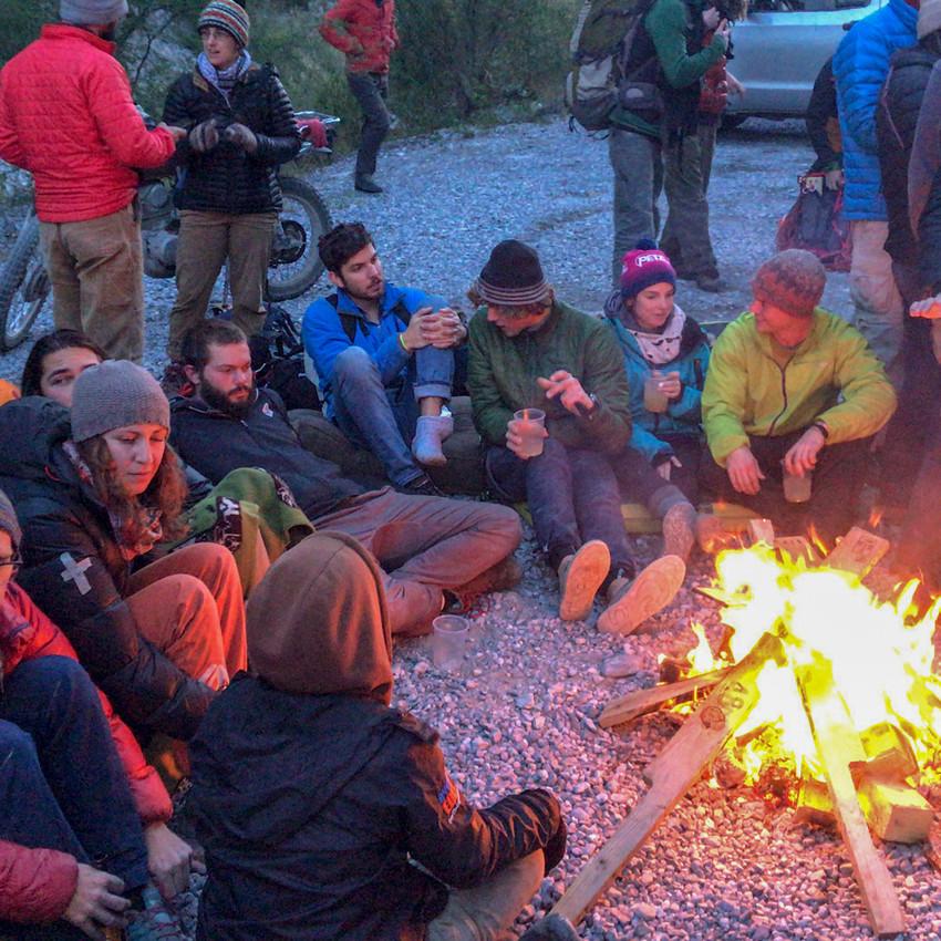 Campfire at Edgardo's