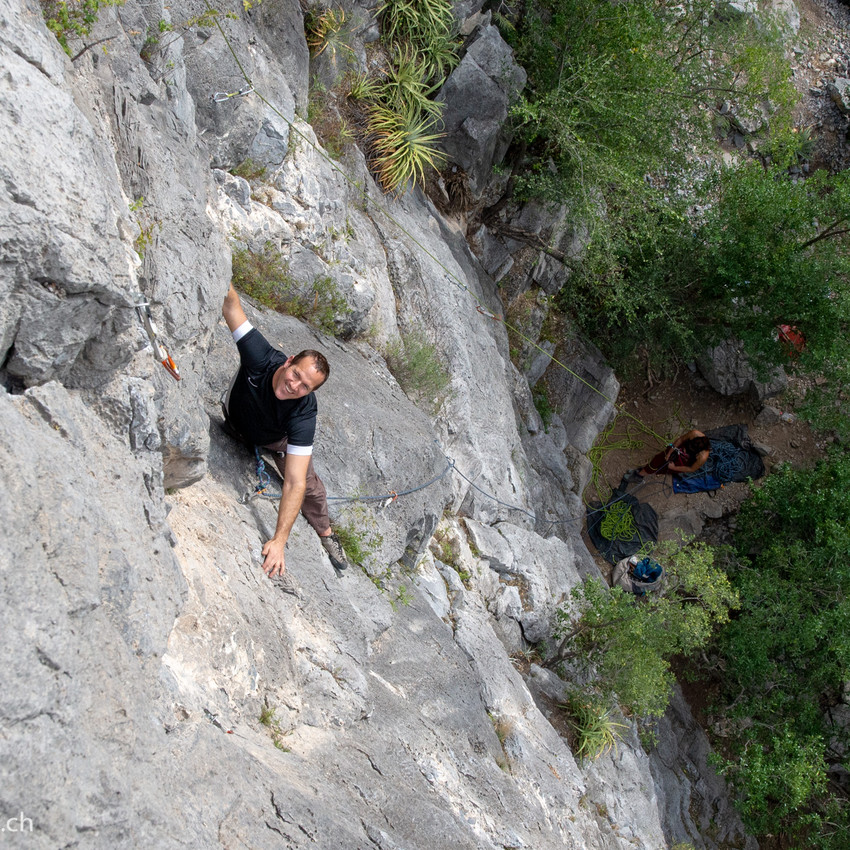 Climbing with Hans