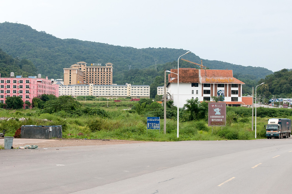 Boten, border town under Chinese control