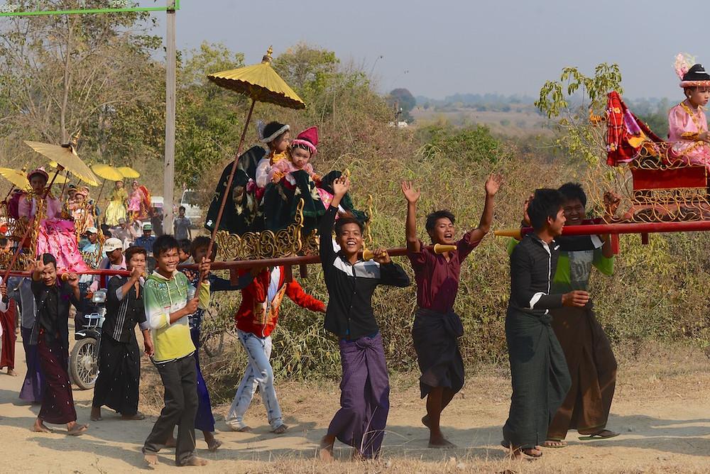 Shin Pyu procession