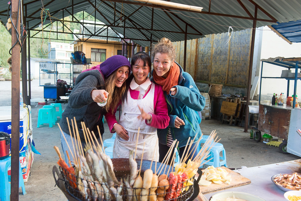 Shao Ni's foodstall (with Berna & Lisa)
