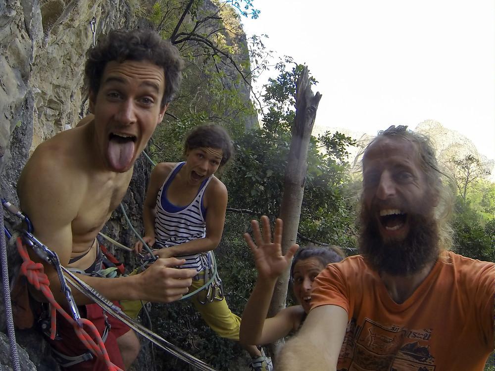 Climbing fun in Thakek