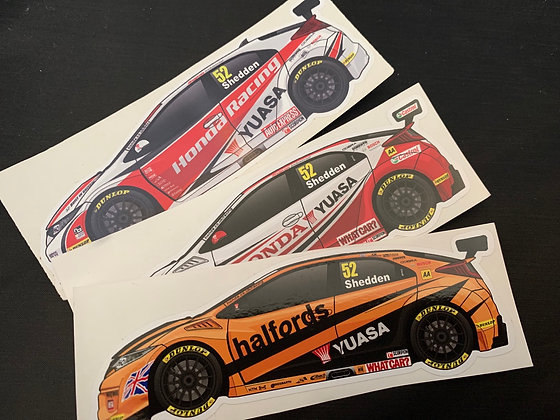 Gordon Shedden Champion Sticker Set