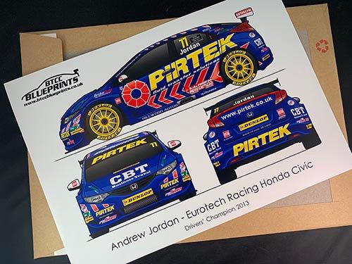 Andrew Jordan Drivers' Champion 2013 Poster
