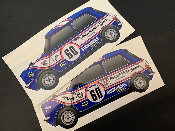 Richard Longman Champion Sticker Set