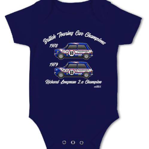 Richard Longman 2 x Champion   Baby Grow