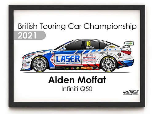 Aiden Moffat 2021 | Laser Tools Racing | A4 Poster