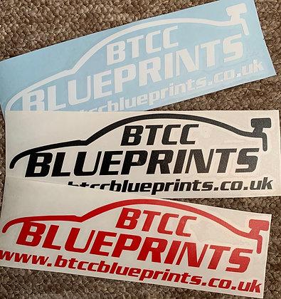 'BTCC Blueprints' Logo Vinyl Sticker