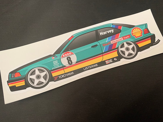 Tim Harvey 1992 Champion Sticker
