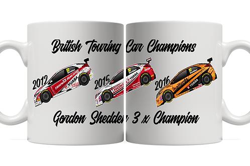 Gordon Shedden 3 x Champion 11oz Mug
