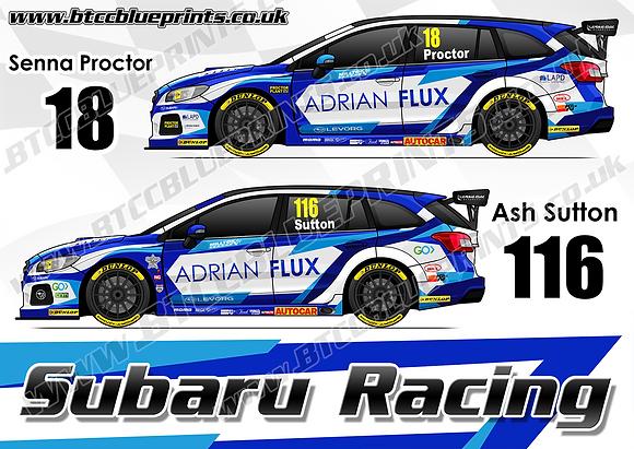 2019 Adrian Flux Subaru Racing Team Poster