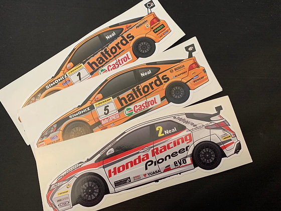 Matt Neal Champion Sticker Set