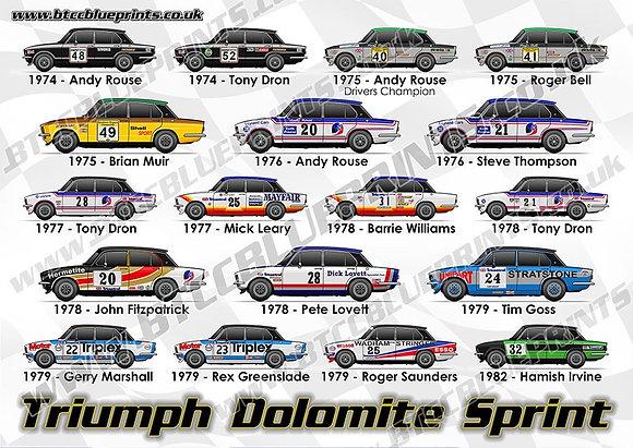 Triumph Dolomite Sprint A3 Poster