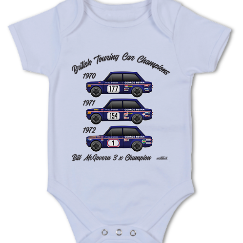 Bill McGovern 3 x Champion | Baby Grow