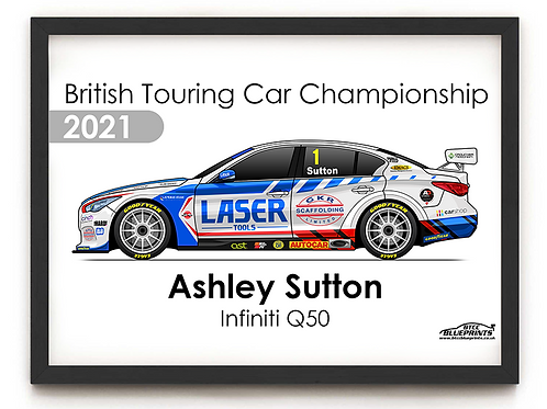Ashley Sutton 2021 | Laser Tools Racing | A4 Poster
