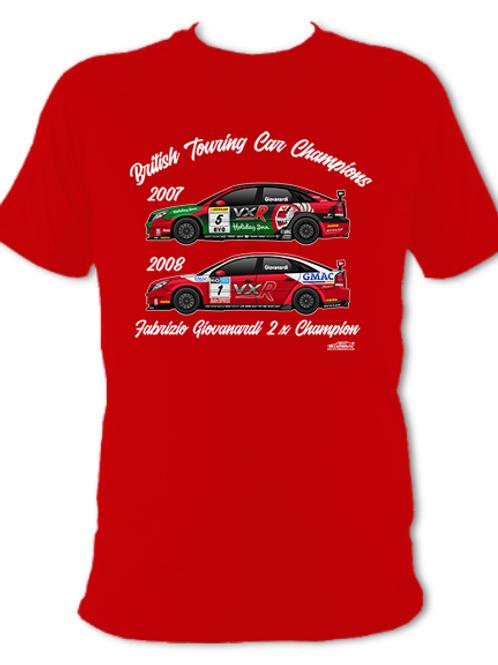 Fabrizio Giovanardi 2 x Champion | Adult Unisex | Short Sleeve T-Shirt