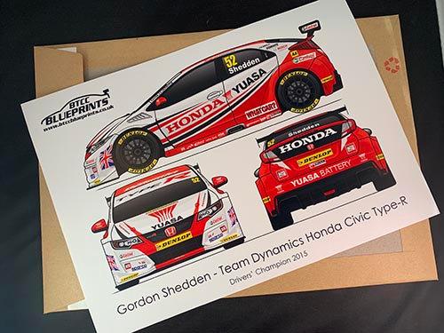 Gordon Shedden Drivers' Champion 2015 Poster