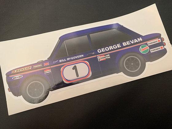 Bill McGovern 1972 Champion Sticker