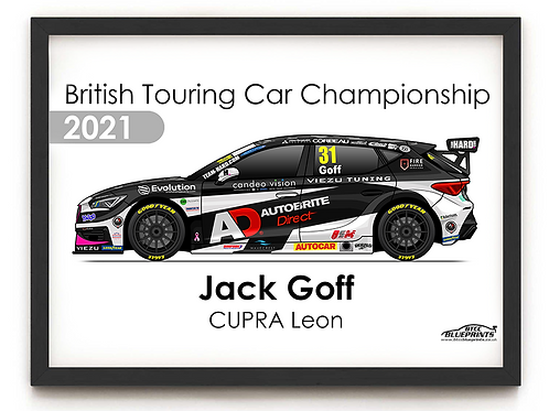 Jack Goff 2021 | Team HARD | A3 Poster