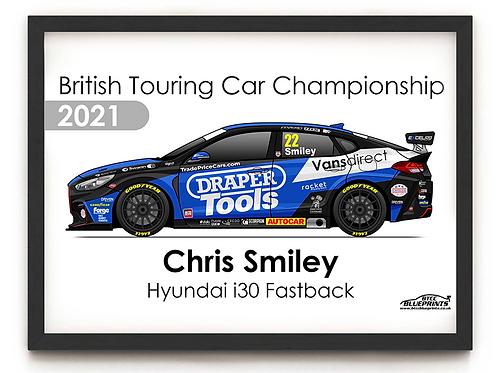 Chris Smiley 2021 | Excelr8 Motorsport | A3 Poster