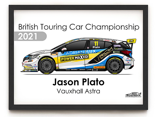 Jason Plato 2021 | Power Maxed Racing | A3 Poster