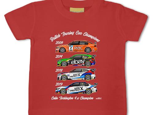 Colin Turkington 4 x Champion   Baby/Toddler   Short Sleeve T-shirt
