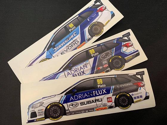Jason Plato Subaru Sticker Set