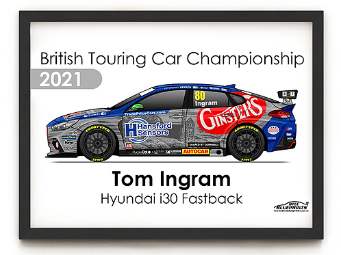 Tom Ingram 2021 | Excelr8 Motorsport | A3 Poster