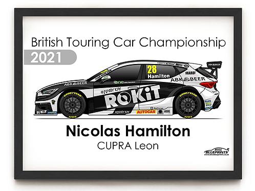 Nicolas Hamilton 2021 | Team HARD | A4 Poster