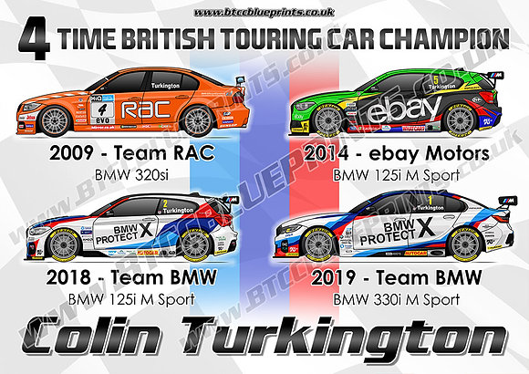 Colin Turkington 4 x Champion Poster