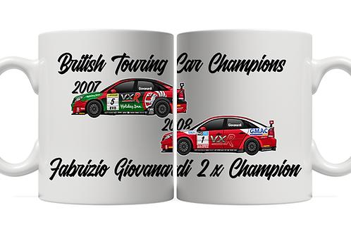 Fabrizio Giovanardi 2 x Champion 11oz Mug