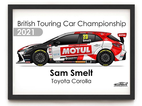 Sam Smelt 2021 | Toyota Gazoo Racing UK | A4 Poster