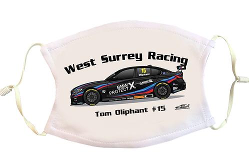 Tom Oliphant 2021   Team BMW   Face Mask