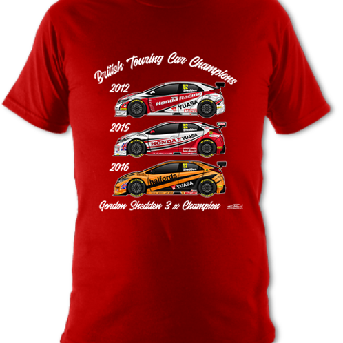 Gordon Shedden 3 x Champion | Children's | Short Sleeve T-shirt
