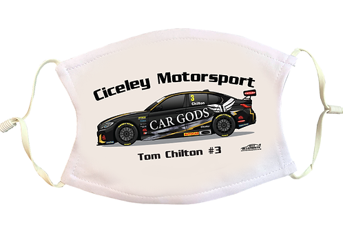 Tom Chilton 2021 | Ciceley Motorsport | Face Mask