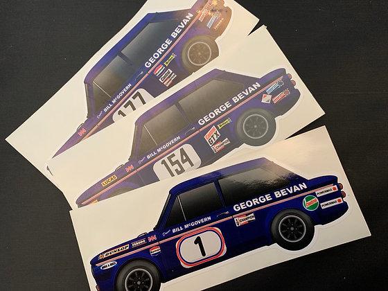 Bill McGovern Champion Sticker Set